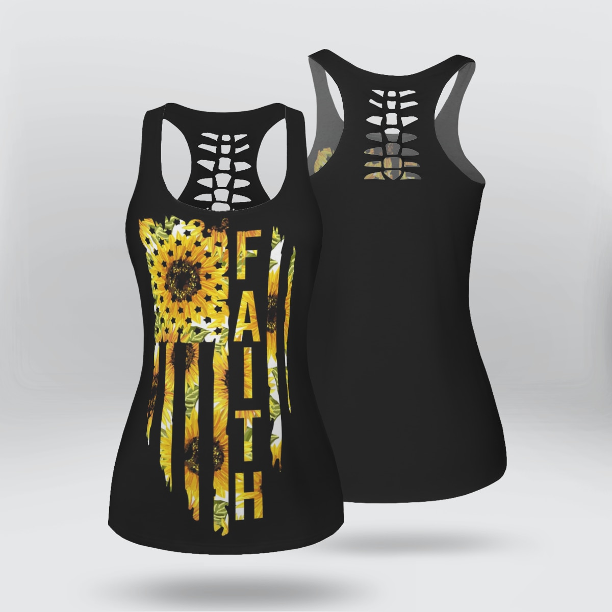 onseme women casual sleeveless t shirt yinyang cat print 3d tank tops cool flower skull tanks back hollow out vest casual tees Faith 3D Printed Hollow Out Tank Top women for Girl Summer Casual Tees Vest Top Funny Tank Top