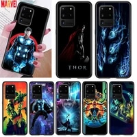 marvel thor cool for samsung note 20 10 8 9 m02 m31 s m60s m40 m30 m21 m20 m10s f62 m62 m01 ultra pro plus phone case