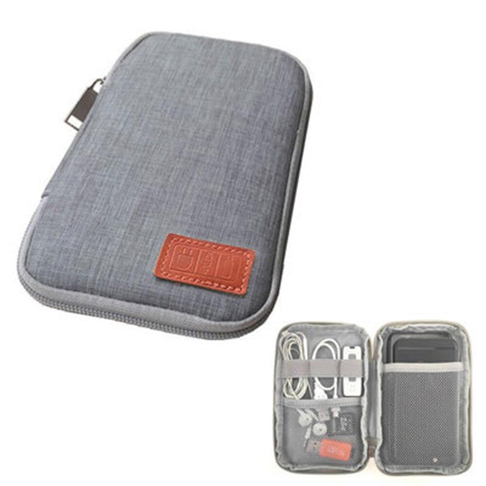 Bolsa de almacenamiento de fuente de alimentación portátil Cable Digital línea de datos bolsas de almacenamiento auriculares bolsa de viaje al aire libre organizador nueva llegada