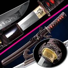Very Sharp Japanese Tanto Sword Samurai Katana Clay Tempered T10Steel Full Tang Handmade Battle Knife Saber