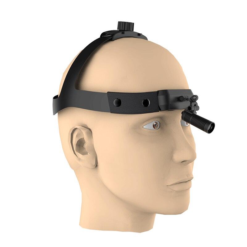 Rechargeable High Intensity Lamp Dentistry Operation Helmet Headlamp LED Headlight for Dental Loupes(JU-M08-F) enlarge
