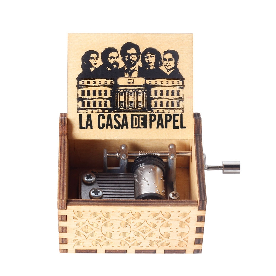 HOT Theme song bella ciao Hand Crank La Casa De Papel bella ciao Music Box Money heist Paper House Musical for Christmas gift