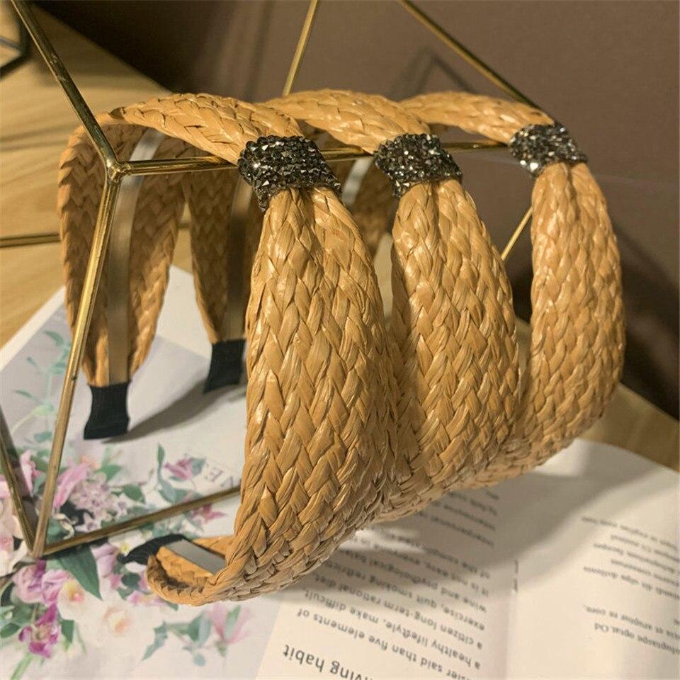 Diadema de diamantes para el pelo hecha a mano de alta gama para mujer