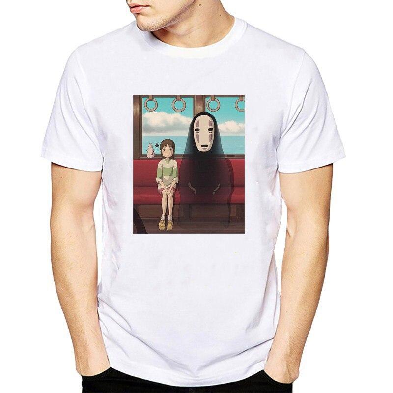 Camiseta con estampado de letras de Spirited Away, camiseta de Anime japonés Kaonashi sin rostro, camisetas de moda de verano, regalos, Dropshipping