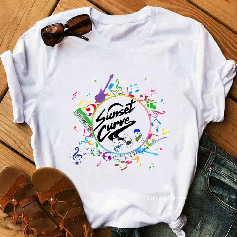 2020 Hot Sale Julie And The Phantoms Graphic Tshirts Women Vogue Funny Music Notes T Shirt Femme Harajuku Kawaii Clothes T-Shirt