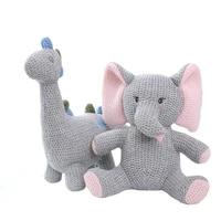 new handmade crochet wool doll wool animal stuffed plush toy baby soothing baby baby sleeping doll knitting unicorn dinosaur