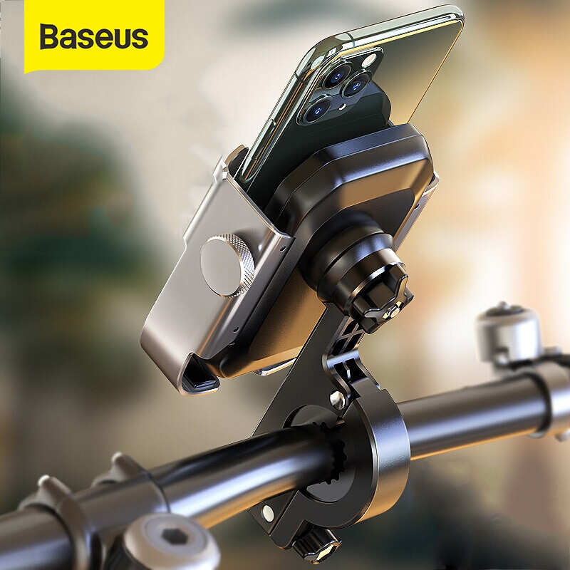 Baseus Motorrad Telefon Halter für Motor Rückspiegel Lenker Montieren Roller Motor Bike Halter für Fahrrad Telefon Halter