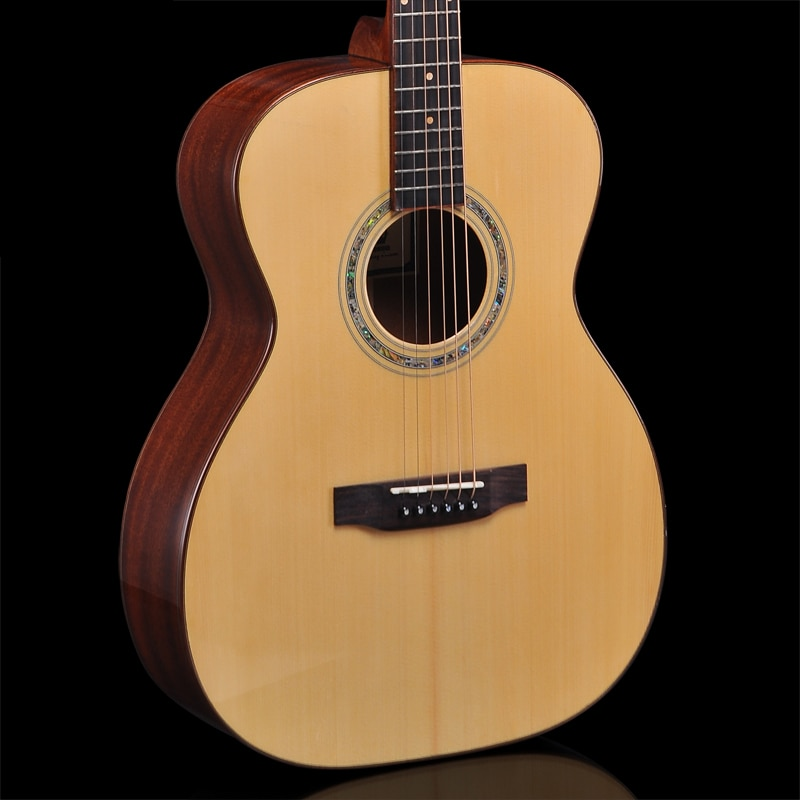 Guitarra acústica MF30 Mann, Guitarra de madera maciza tamaño OM, Guitarra acustica, tienen vídeo