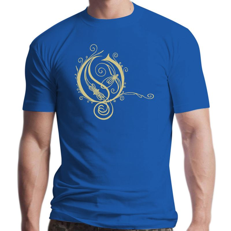 Opeth-Camiseta con Logo redondo para mujer, camisa pequeña con el logotipo de...