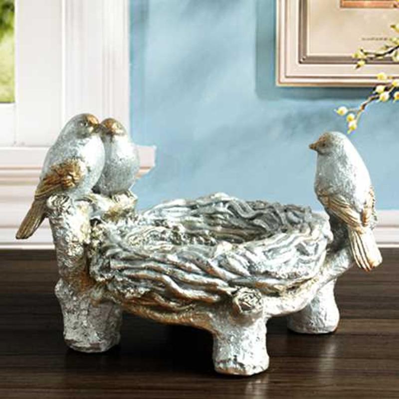 BIRDS ASHTRAY STATUE RETRO ANIMAL ART SCULPTURE RESIN CRAFTWORK HOME DECOR BOYFRIEND GIFT L2993