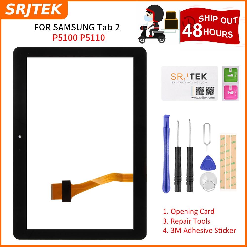 Srjtek 10.1 for for para samsung galaxy note n8000 n8010 n8013 toque digitador da tela sensor de vidro exterior tablet pc peças reposição