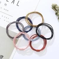 high elastic rubber bands basic simple hair bands scrunchies hair ties gum women girls ponytail holders fashion hair accessories
