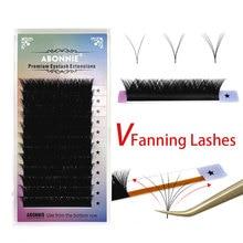 Abonnie V Lashes Easy Fan Eyelashes Extension Auto Fan Lashes Tray Fast Fanning Eyelash Extention Ca