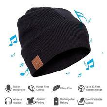 Unisexe doux chaud bonnet chapeau Bluetooth musique Smart Cap casque haut-parleur avec micro