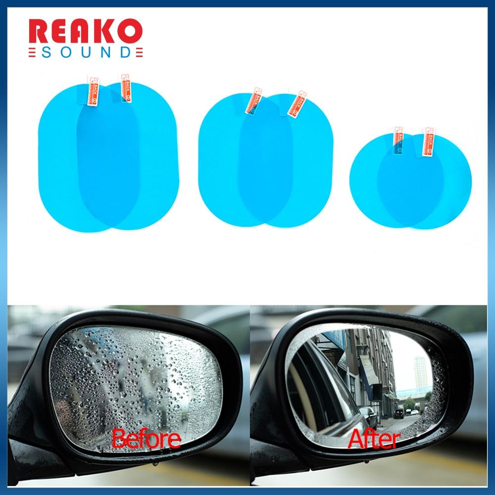 Противотуманная Автомобильная наклейка, Автомобильное Зеркало, прозрачная пленка, Автомобильное зеркало заднего вида, водонепроницаемый 2...