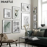 nordic flower plant poster abstract sculpture line character wall art canvas painting photography modern picture room home decor