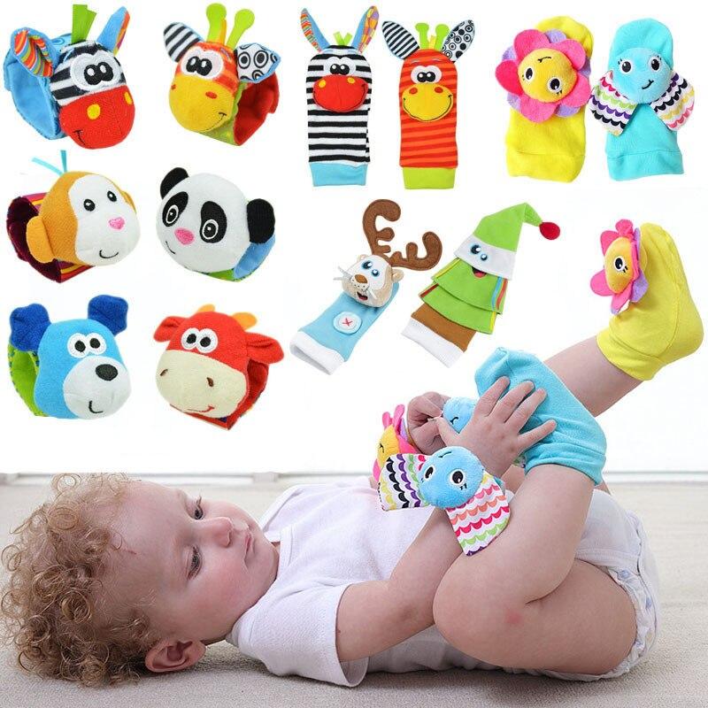 Детские игрушки bebe Погремушки/носки 2 шт./набор, можно сделать звук, милая игрушка для маленьких мальчиков, игрушки для детей, Подвесные Игрушки для раннего обучения
