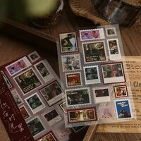 dimi moontime with you vintage stamp sticker for deco scrapbooking notephone journal stickers journaling stationery