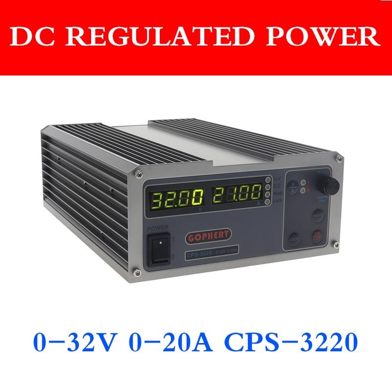 Импульсный источник питания CPS 3220, 0-32 В, 0-20A, 0,01 в/0,01 А, 110 В/220 В, прецизионный цифровой Регулируемый блок питания постоянного тока, Goffett Lab