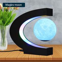 Магнитный левитирующий шар 3D печать лунный свет плавающий Moon Домашний Электронный антигравитационная лампа Новинка шар светильник украше...