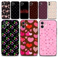 animal cute love heart phone case for iphone 13 12 11 pro max xs max xr x 7 8 plus 12 mini 6s 5s se 2020 cover silicone shell