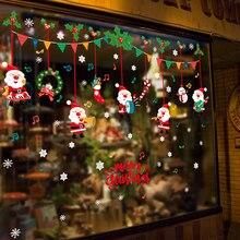 Autocollants flocons de neige en verre   Fournitures de noël, autocollants muraux suspendus pour Notes musicales de dessin animé, portes et vitrines