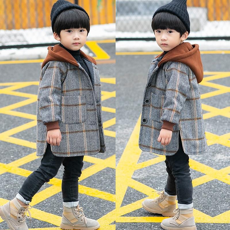 2021 Winter Spring Boy Thick Woolen Coat boys clothes boys jacket
