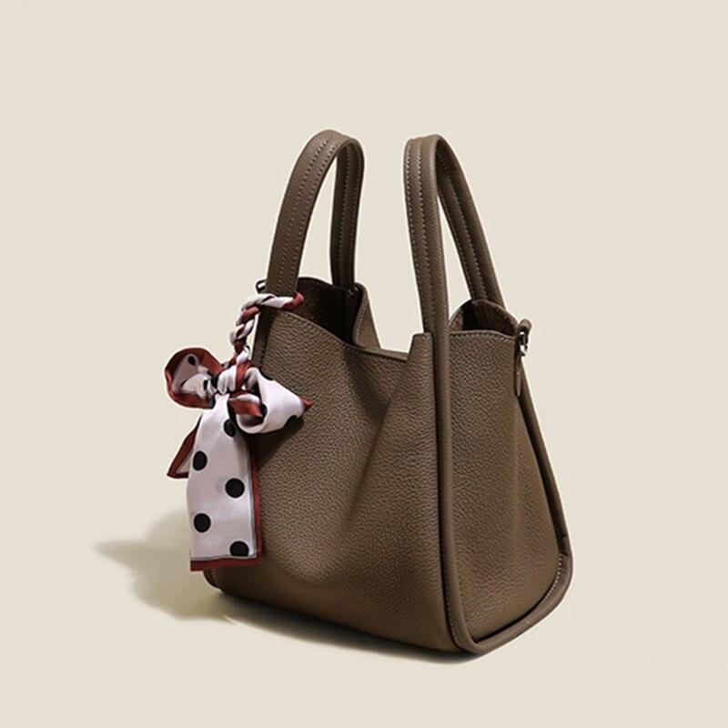 حقائب يد نسائية فاخرة من الجلد الأصلي موديل 100% ، حقيبة يد فاخرة حقائب نسائية مصممة حقيبة حمل كلاسيكية من الجلد الناعم