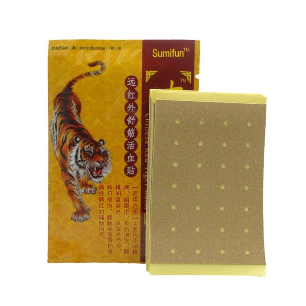 8 unids/bolsa bálsamo de tigre rojo chino alivio del dolor juntas de cuello yeso médico artritis reumática parche para el dolor masaje corporal cuidado de la salud