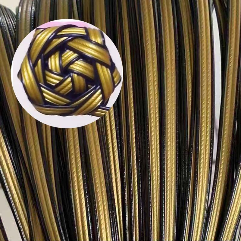 8mm Width Gradient Flat Synthetic Rattan Material Diy Handmade Weaving Rose Flower Craft Knit Repair Chair Table Basket Decor craft шапка craft logo knit