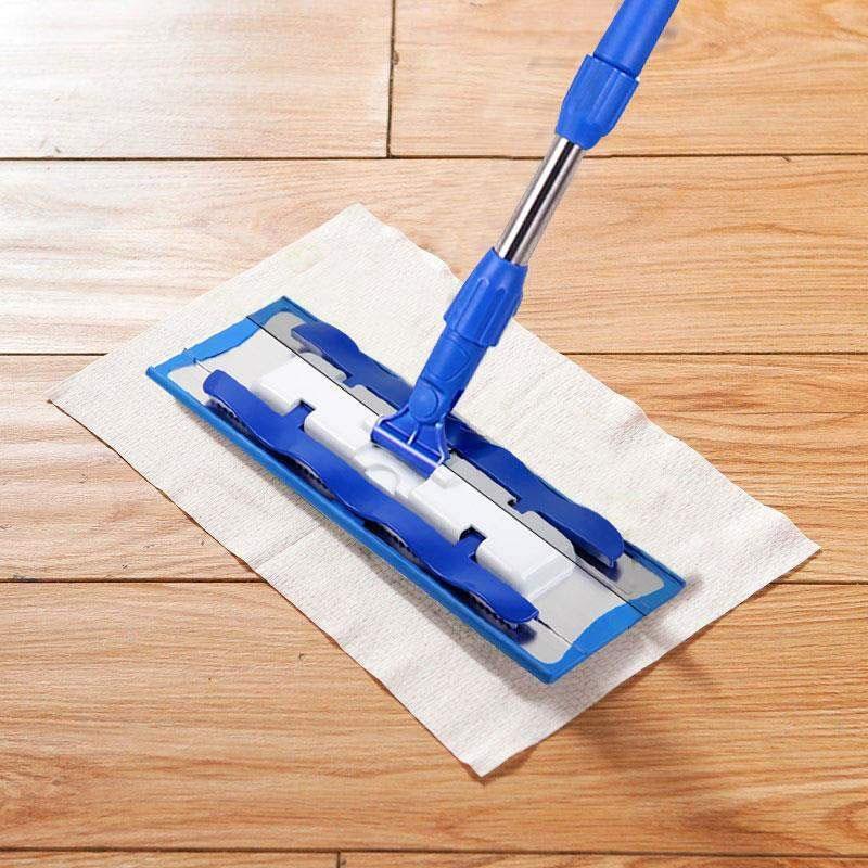 Cabeza de fregona electrostática cubierta de eliminación de polvo toallitas papel Universal desechable plana trapeador de reemplazo de piso de limpieza de tela no tejida