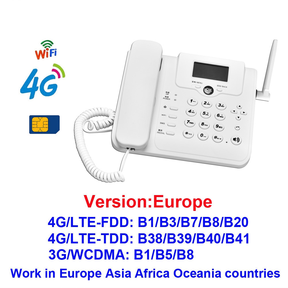 DONG ZHEN HUA W101W 4G Wifi Router LTE Voice Call Desk Telephone VOLTE Mobile Hotspot Gsm Sim Card Fixed Phone For Home Office