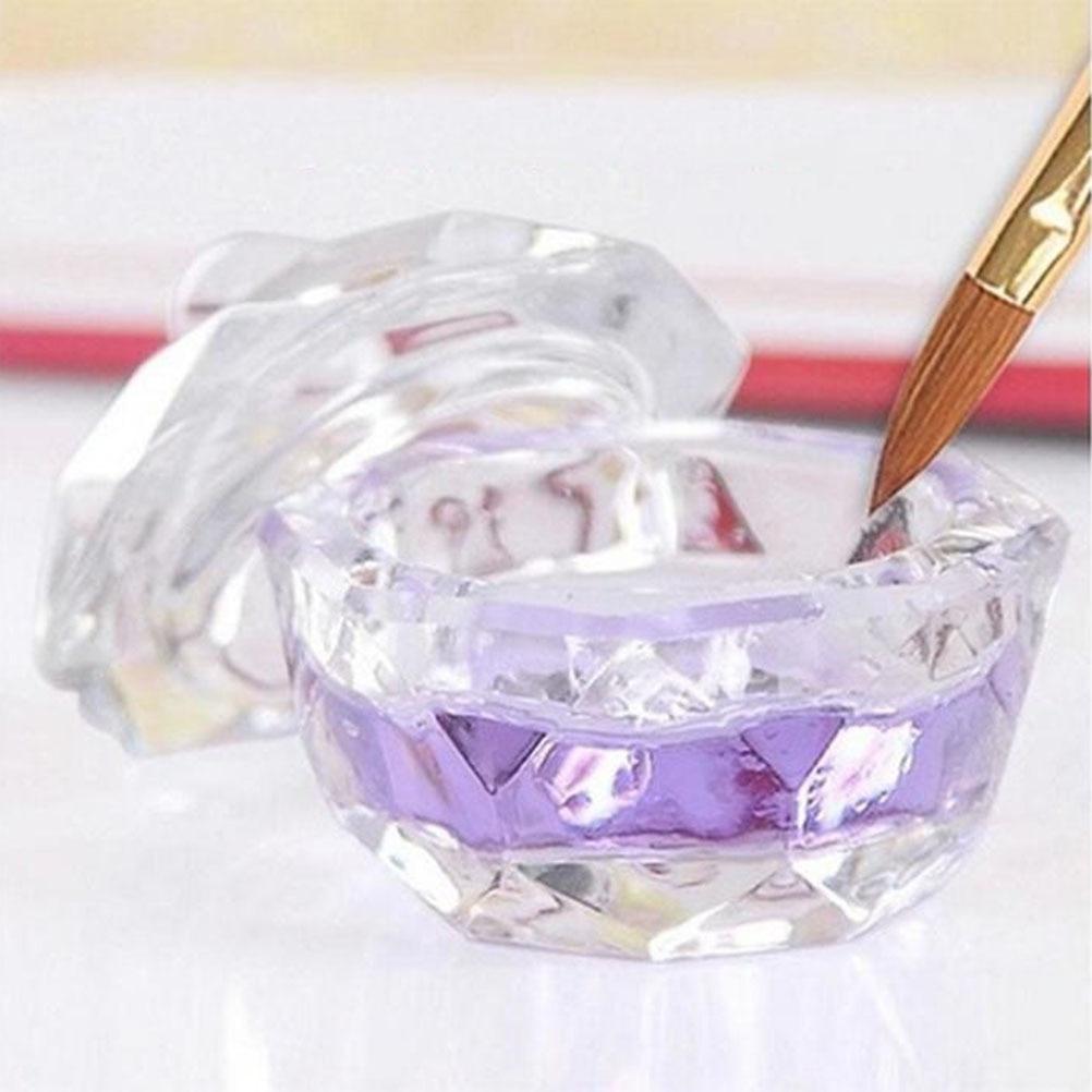 1PC acrilico liquido vetro acrilico polvere Dappen piatto bicchiere di cristallo per Nail Art