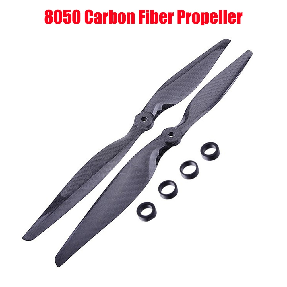 4PCS/2 Pairs 8050 Carbon Fiber Propeller CW CCW 8 inch blade For FPV racing RC Quadcopter Hexacopter Multi Drone DIY Accessories