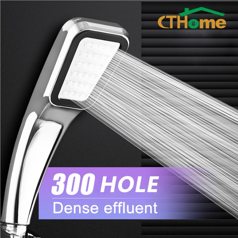 CTHome 300 Hole Square High Pressure Bathroom Rainfall Shower Head Handheld Shower Water Saving Shower Head Filter Sprayer Head shower heads brushed nickel bathroom hand held shower sprayer head for bath saving water rainfall shower faucet nhh137