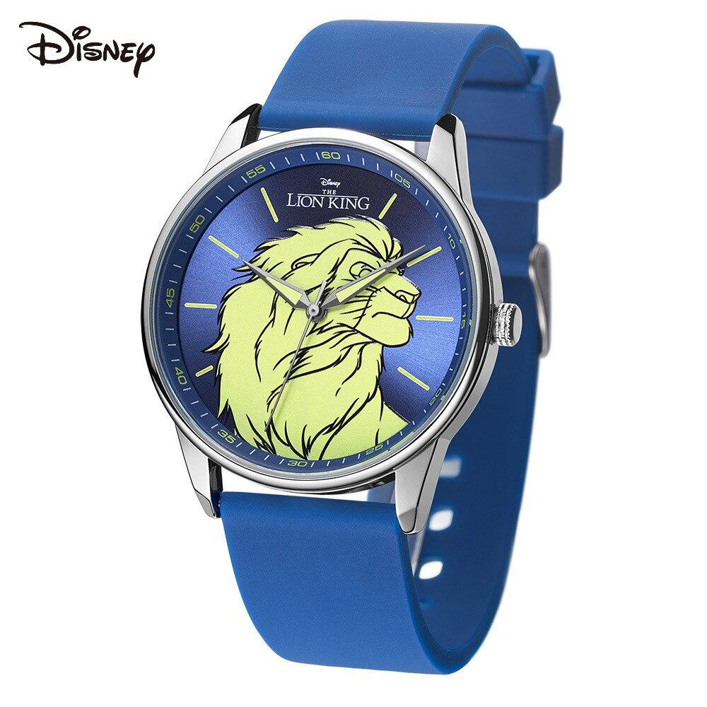 Relógio de Quartzo Estudante do Ensino Disney Relógio Masculino Leão Moda Médio Fita Menino Rei