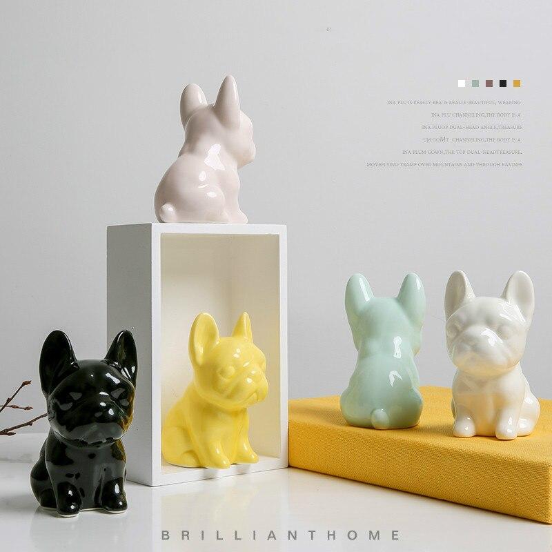 Casa cerâmica cão ornamentos decorativos adorável personalidade criativa casa quarto ornamentos menina coração zsp0105947