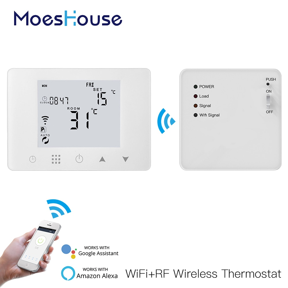 WiFi Smart Thermostat Wall-Hung Gas Boiler Water Electric Underfloor Heating Temperature Controller Work with Alexa Google Home