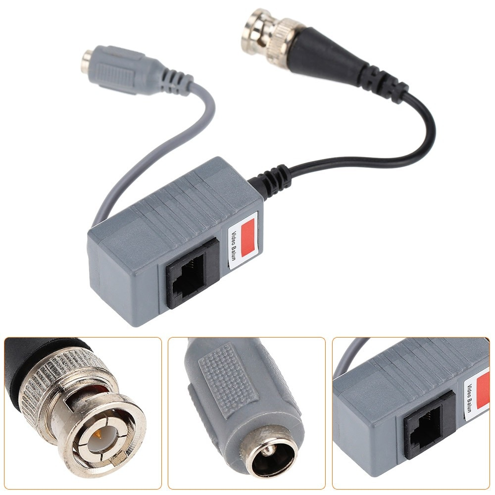 5 Pairs Passive CCTV Coax BNC Power Video Balun Transceiver Connectors To RJ45 For CCTV Video Camera enlarge