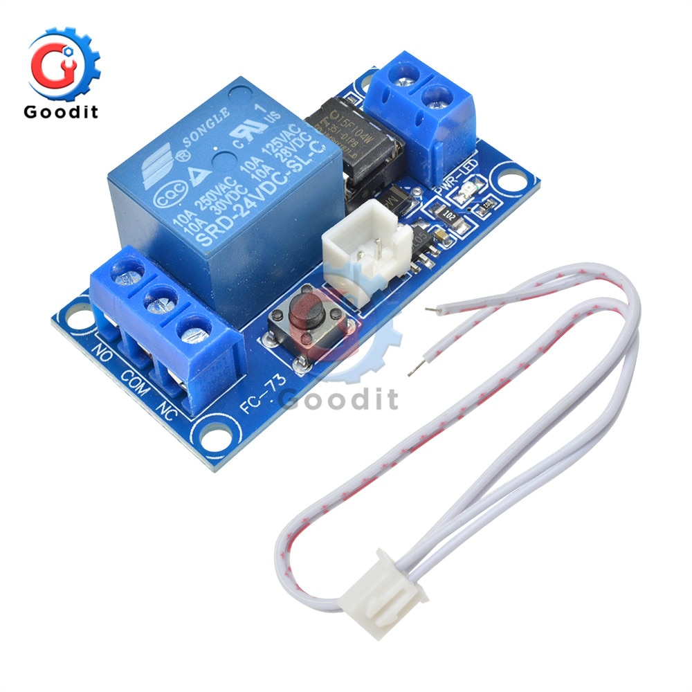 1 canal DC Módulo de relé con enclavamiento de 5 V/12 V/24 V con contacto biestable interruptor de Control MCU DC módulo de relé