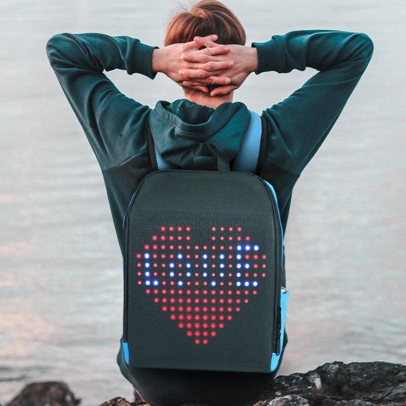 LED Backpack Waterproof Display Advertising Light Led Smart WIFI Version APP Control Backpack with Led Screen Walking Billboard