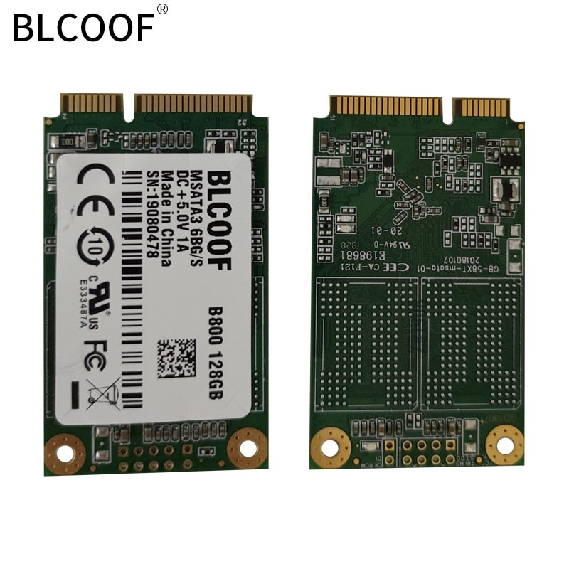 BLCOOF mSATA SSD Hard Drive HD SSD m.2 sata hard disc  portable B800 128GB Internal Solid State Disk Drive for Laptop Desktop PC