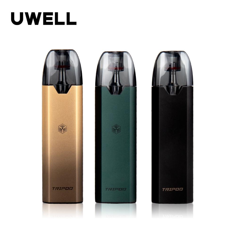 Оригинальный штатив Uwell Pod System Kit с портативным зарядным чехлом 1000 мАч, 3 картриджа, 2 мл, Ом, электронная сигарета, вейп