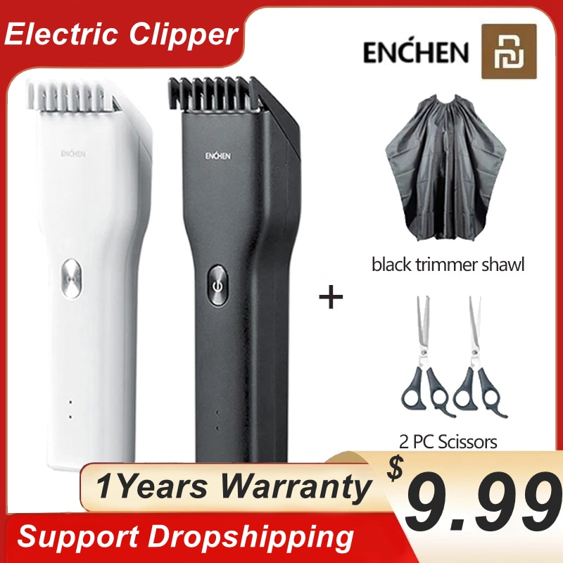 ENCHEN Boost Clipper USB Electric Hair Trimmer For Men Adults Kids Rechargeable Hair Cutting Machine