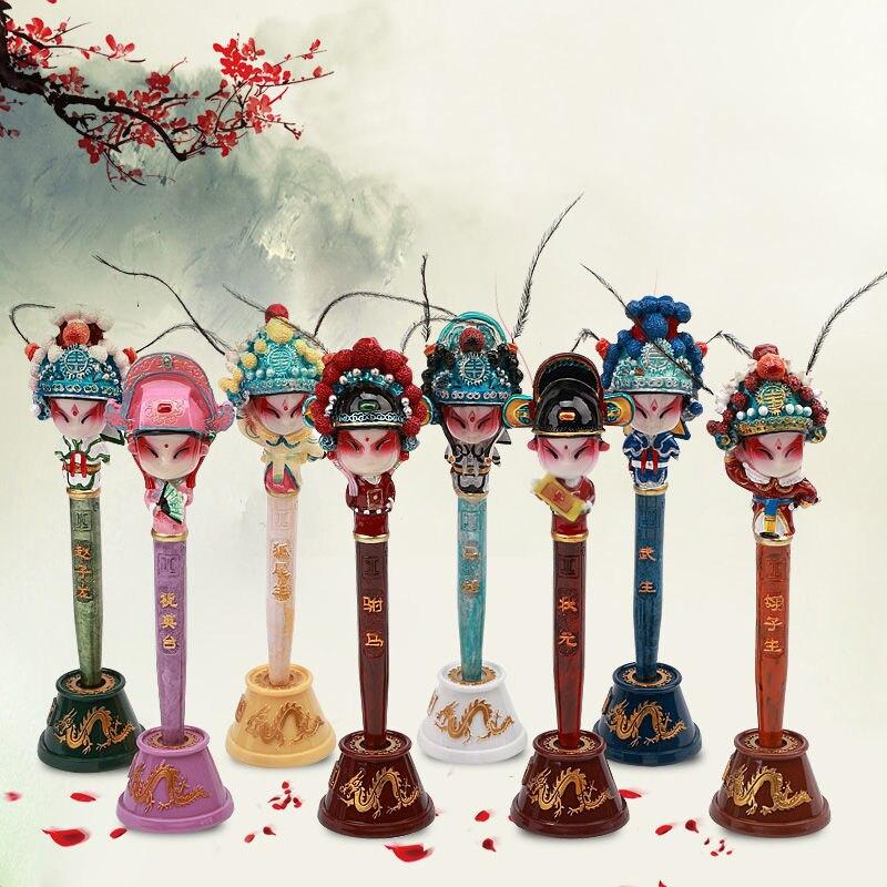 Ручка для макияжа лица Пекинская опера подарки в китайском стиле подарки ручной работы за рубежом сувениры для путешествий настольные укра...