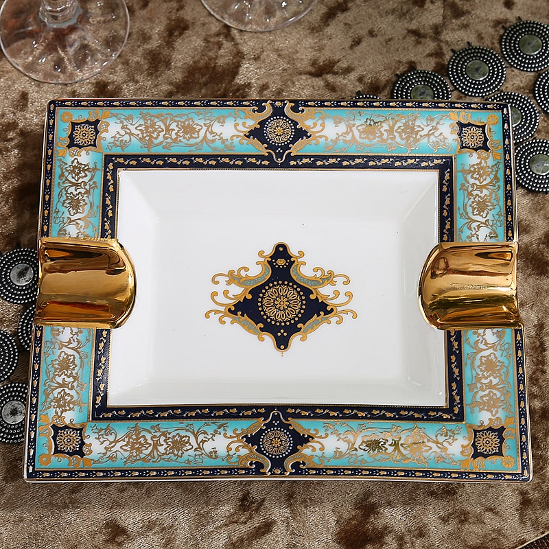Ceramic Ashtray Luxury Decorative Ashtrays High Quality Ceramic Smoking Ashtray enlarge