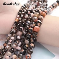 6810mm natural stone beads two tune fire agate orange round loose beads for jewelry diy making bracelet accessories beadtales