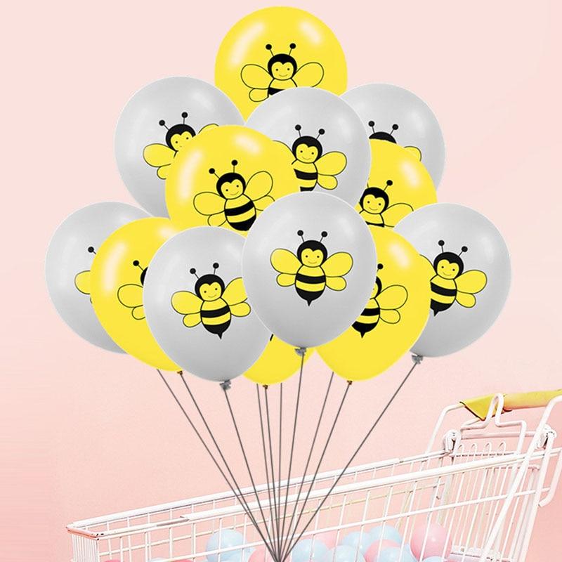 100pcs Honey Bee Balloons Birthday Party Decorations Child Kids Happy Toy Ball
