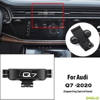 car mobile phone holder air vent mounts stand gps gravity navigation bracket for audi q7 2020 car accessories