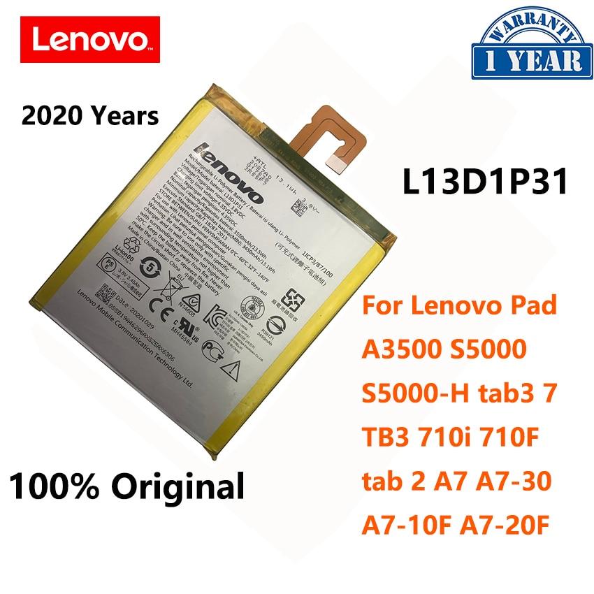 100% Original nuevo L13D1P31 batería para Lenovo Pad A3500 S5000 S5000-H tab...